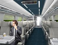 Brightline, interior of Select Car service; photo courtesy Brightline