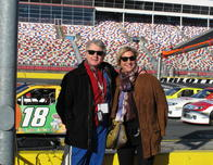 Paul and Jackie Stapleton at Charlotte Motor Speedway NASCAR Experience.