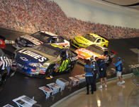 NASCAR Hall of Fame exhibit.