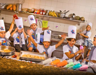 Kids Cocina cooking classes at CasaMagna Marriott Resort in Cancun.