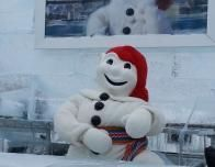 Bonhomme is the cheery mascot of Carnaval and greets all visitors.