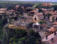 Aerial view of Altos de Chavon, Casa de Campo