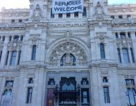 Outside Cibeles Palace (Madrid)