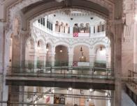 Inside Cibeles Palace (Madrid) with Feminis-Arte IV Banner