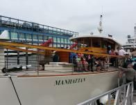 """Manhattan"" is one of Classic Harbor Line's traditional yachts used for sightseeing."