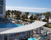 Wyndham Grand Resort pool area at Clearwater Beach.