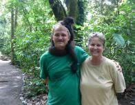 Earl and Carol Crews of Osa Wildlife Sanctuary with Sweetie