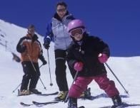 Take a ski lesson with your family at many winter festivals.