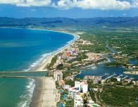 Aerial view of Nuevo Vallarta, the planned resort community nearest the airport.