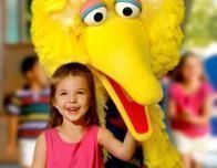 Meeting Big Bird at Sesame Place