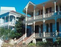 Victorian architecture abounds in Galveston, but the waterfront is all new.