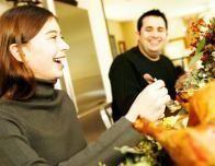 Enjoying Thanksgiving Dinner