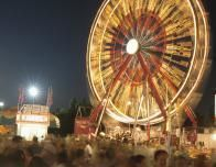 North Carolina State Fair in Raleigh has a big midway with rides.