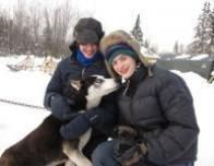 Meeting the Sled Dogs