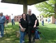 Author and Husband at Kent State Massacre 40th Anniversary