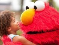 A Hug from Elmo at Sesame Place