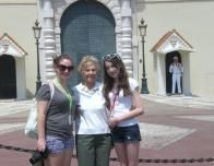 Author and Granddaughters