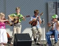 Children Performing in the Blue Ridge Mountains