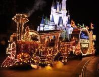 Every night, there's a Mickey Mouse parade and fireworks.