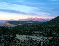 Sunset Landscape at Mesa Verde, Colorado