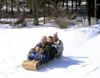 Family Tobogganing at Skytop Lodge