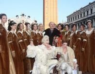 Royalty parade in Piazza San Marco at the annual Carnevale in Venice, Italy.