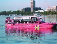 Touring Boston with amphibious Boston Duck Tours