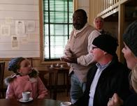 R. Charlton Coffeehouseserves tea at Colonial Williamsburg