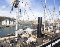 "Deck of the ss Great Britain with ""Go Aloft"" - Climb the Rigging, Courtesy: ss Great Britain Trust"