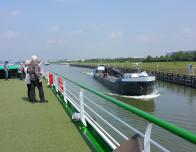 Roofdeck of the CroisiEurope ship on Mas River, Netherlands