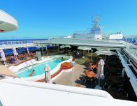 On the top deck of the Louis Cristal cruise ship bound for Havana, Cuba.
