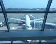 Air India flight on runway