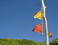 Flagpole message system