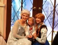 Queen Elsa and Princess Anna await at California Adventure park.