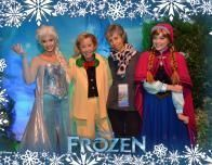 Godmother Meg Gets Autographs from Anna & Elsa, with Photopass magic.