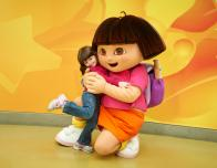 Dora the Explorer and Friend at Nickelodeon Universe at Mall of America