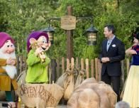 Meet the Seven Dwarfs, the latest meet n' greet characters, at Disney World's New Fantasyland.