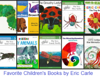 Collage of Eric Carle book covers