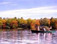The Lake Surrounded by Fall Foliage