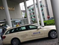 Uber pickup at German hotel.