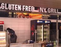 Fast food snack stands now label gluten-free options.
