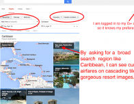Google.com/Flights is a fun way to find and book travel using your own priorities.
