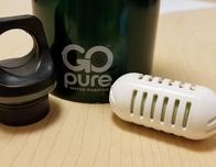 GoPure water filter pod; photo c. Kyle McCarthy