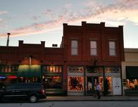 Grapevine Main Street at dusk.