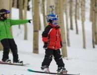 Snowboard Fun on the Mountain at Grand Targhee, Wyoming