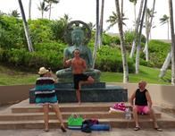 Buddha statue at the Hilton Waikoloa Resort on Hawaii.