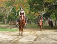 Riding at the Hacienda Pinilla, Guanacaste