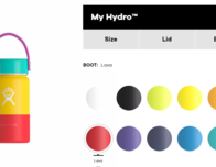 Customize your own Hydroflask colors; photo c. Hydroflask