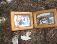 Framed Family Pictures Found in the Rubble