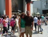 My parents in Front of Grauman's Chinese Theatre, Los Angeles